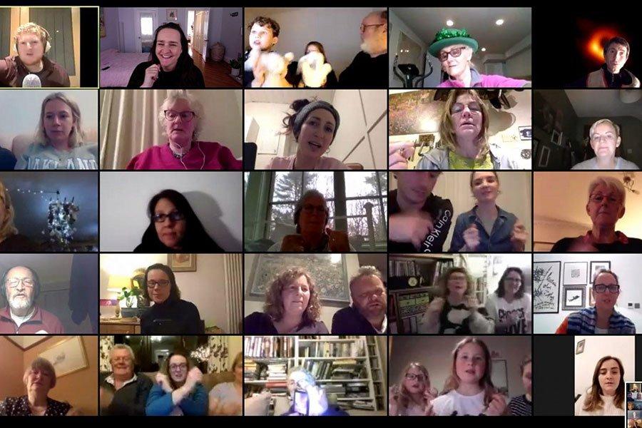 Join a virtual choir