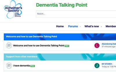 Chat to other people with dementia