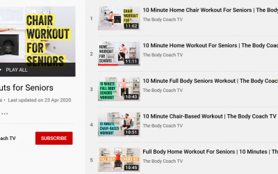 Try out a Joe Wicks workout for seniors
